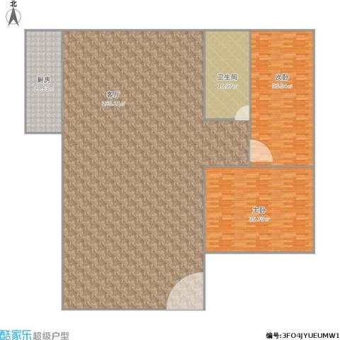 紫东阁2室1厅1卫1厨372.00㎡户型图