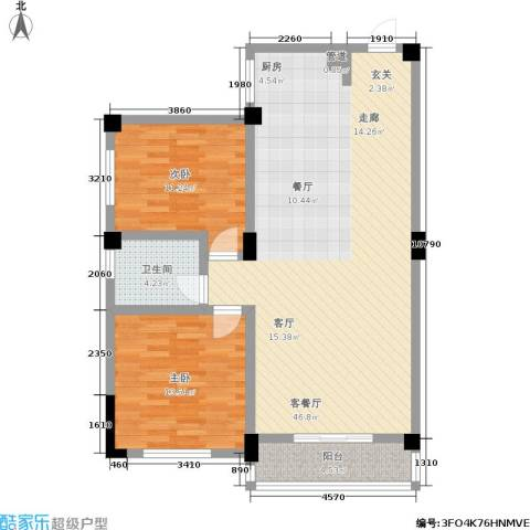 太子花苑2室1厅1卫0厨92.00㎡户型图