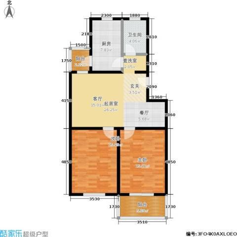 东盛园2室0厅1卫1厨80.00㎡户型图
