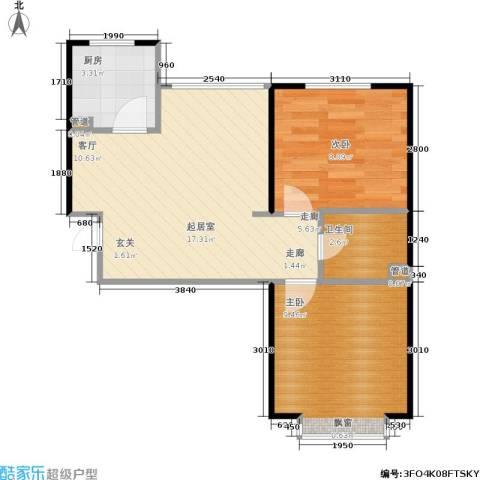 君悦美景2室0厅1卫1厨76.00㎡户型图