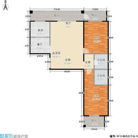 锋华城2室0厅2卫1厨153.00㎡户型图