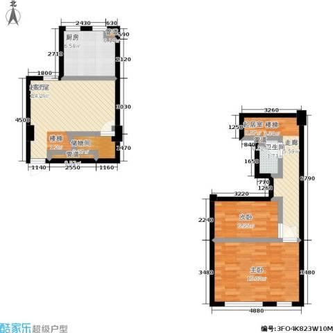迪赛明天广场2室0厅1卫1厨86.00㎡户型图