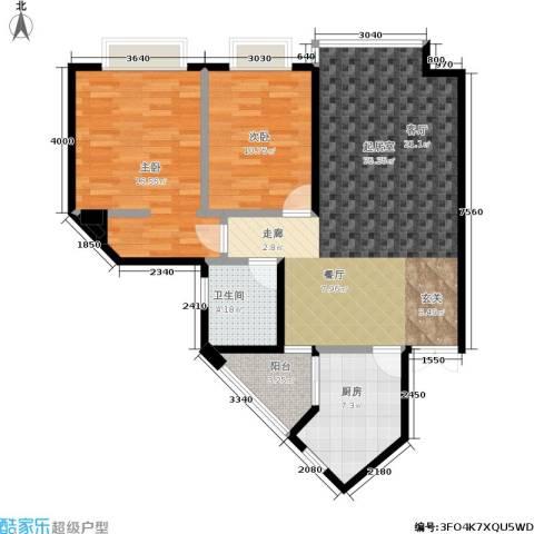 春风绿苑2室0厅1卫1厨109.00㎡户型图