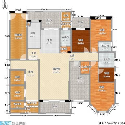 半山御景4室0厅3卫1厨209.00㎡户型图