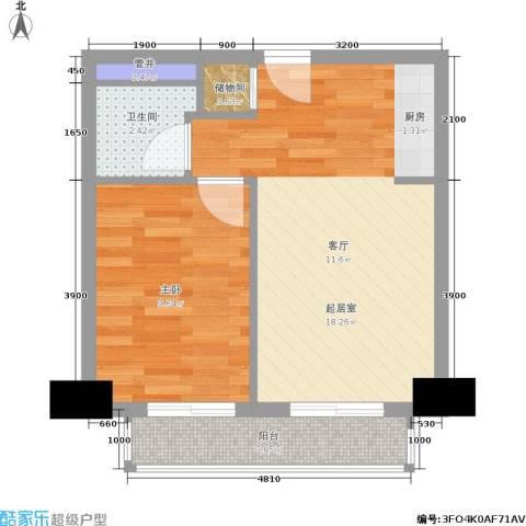 远见名苑1室0厅1卫0厨51.00㎡户型图