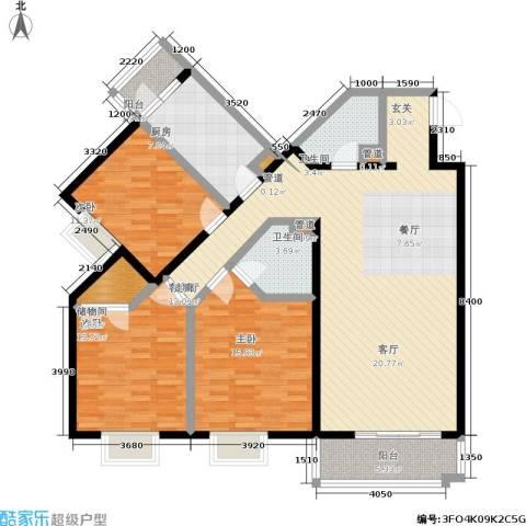 贵仁居3室1厅2卫1厨158.00㎡户型图
