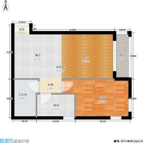 五栋大楼1室0厅1卫1厨75.00㎡户型图