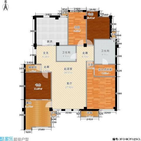 香格里拉4室0厅2卫1厨190.00㎡户型图