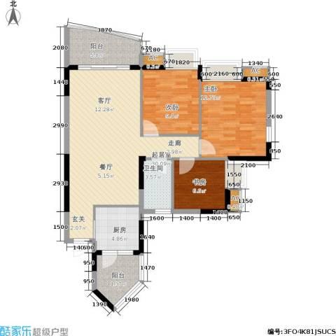 东海长洲3室0厅1卫1厨112.00㎡户型图