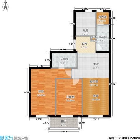 五栋大楼2室0厅2卫1厨118.00㎡户型图