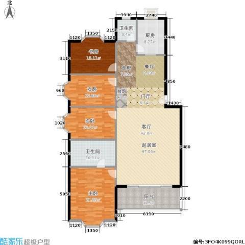 天子庄园4室0厅2卫1厨176.00㎡户型图