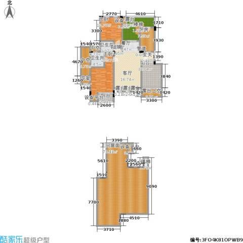 广厦城 广厦城・洛卡庄园2室1厅2卫1厨192.53㎡户型图