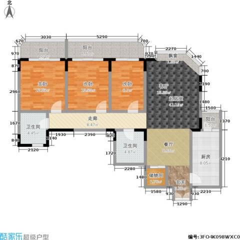 嘉和苑3室0厅2卫1厨149.00㎡户型图