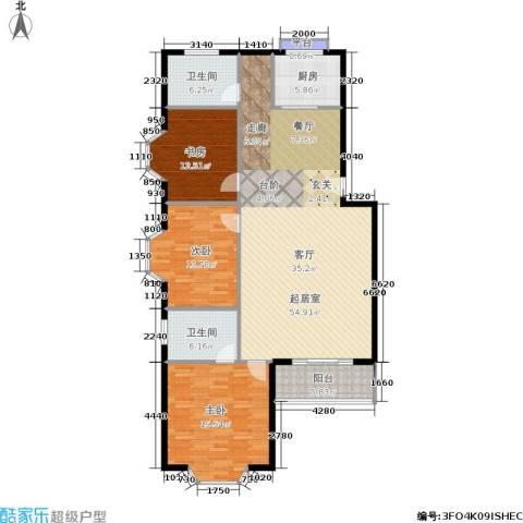 天子庄园3室0厅2卫1厨139.00㎡户型图