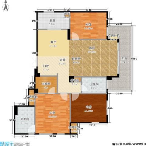 荣安琴湾3室0厅2卫1厨138.00㎡户型图