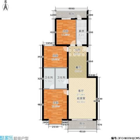 天子庄园3室0厅2卫1厨125.00㎡户型图