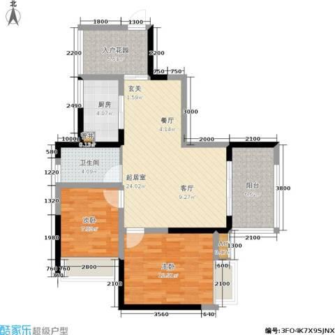 东海长洲2室0厅1卫1厨95.00㎡户型图