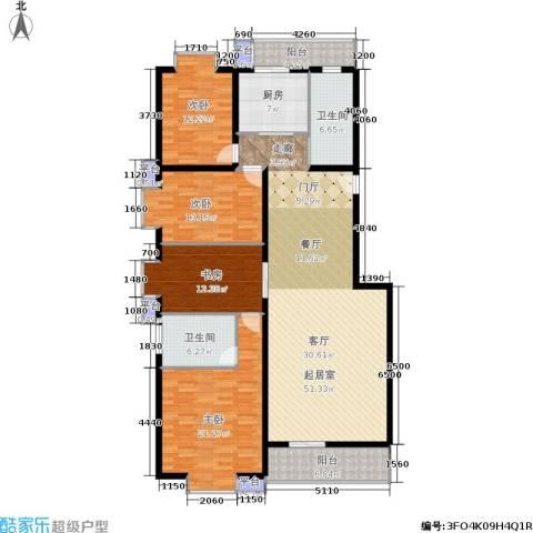 天子庄园4室0厅2卫1厨160.00㎡户型图
