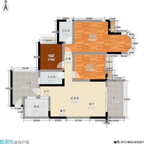 东海长洲3室0厅2卫1厨147.00㎡户型图