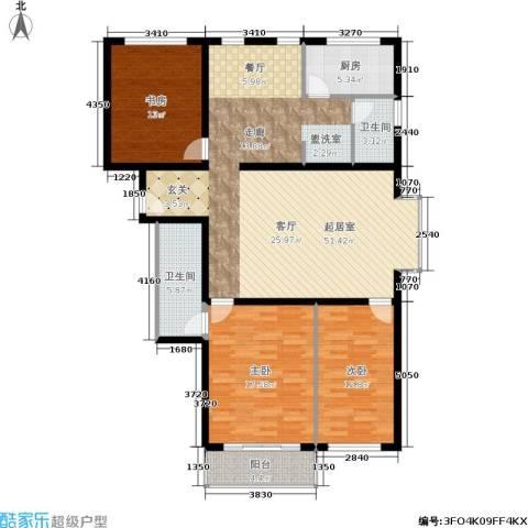 天子庄园3室0厅2卫1厨128.00㎡户型图