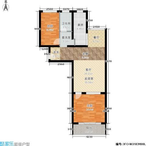 天子庄园2室0厅1卫1厨85.00㎡户型图