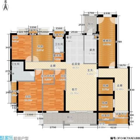 半山御景4室0厅2卫1厨181.00㎡户型图