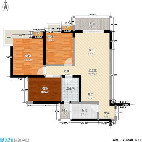 东海长洲3室0厅1卫1厨107.00㎡户型图