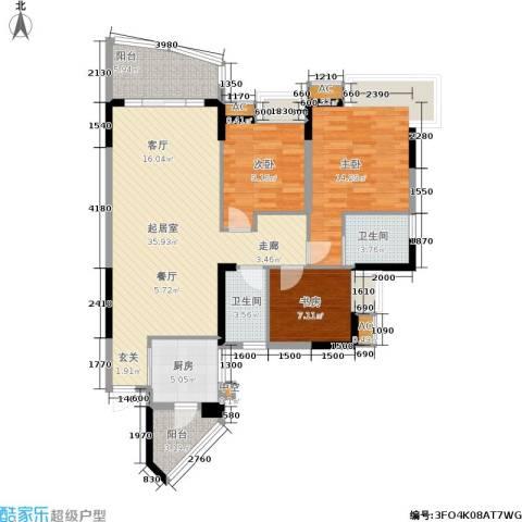 东海长洲3室0厅2卫1厨128.00㎡户型图
