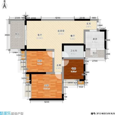 东海长洲3室0厅1卫1厨115.00㎡户型图