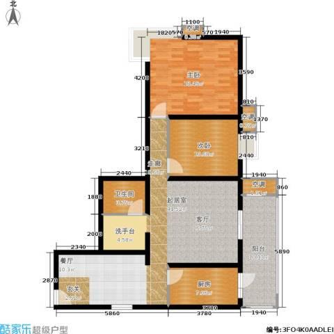 嘉莲苑2室0厅1卫1厨107.00㎡户型图