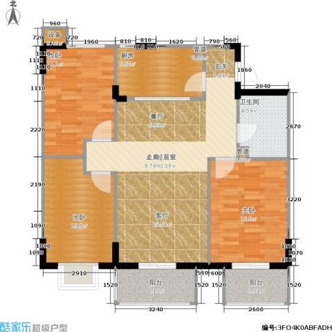嘉莲苑3室0厅1卫1厨92.00㎡户型图