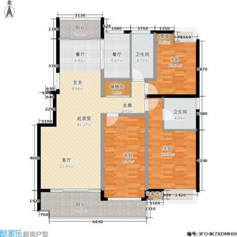 茂华国际湘3室1厅2卫0厨165.00㎡户型图