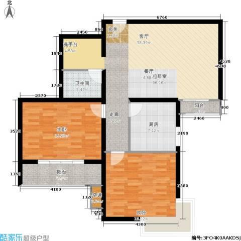 嘉莲苑2室0厅1卫1厨94.00㎡户型图
