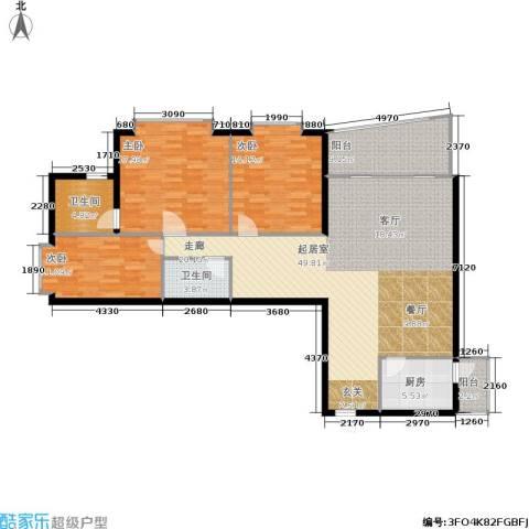 君悦天下3室0厅2卫1厨122.00㎡户型图