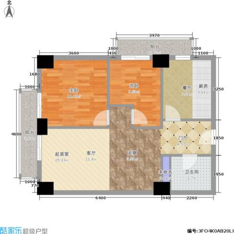 远见名苑2室1厅1卫0厨80.00㎡户型图