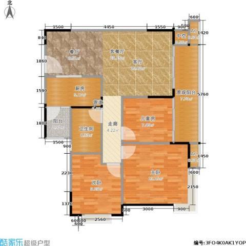 北回归线3室1厅1卫1厨109.00㎡户型图