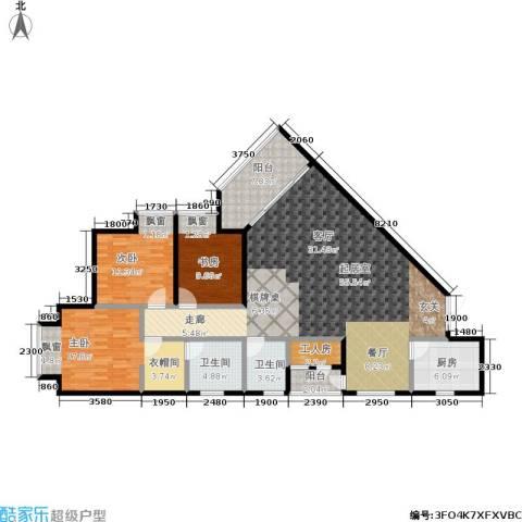 春风绿苑3室0厅2卫1厨169.00㎡户型图