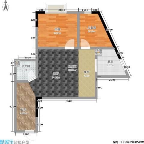 金江大厦2室0厅1卫1厨56.00㎡户型图