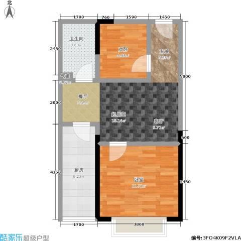 金江大厦1室0厅1卫1厨50.00㎡户型图