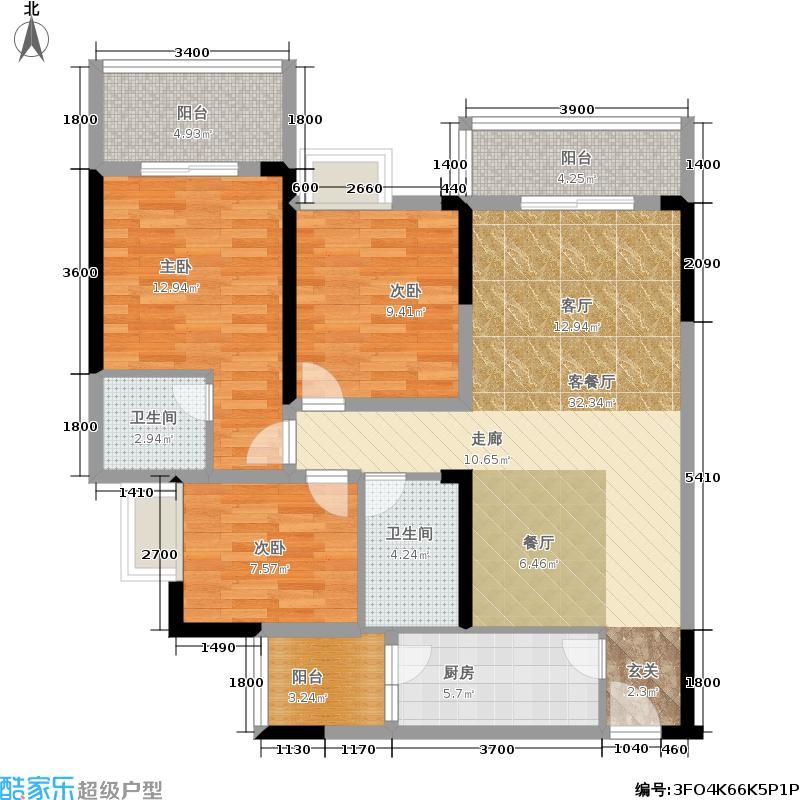 鹭岭尚品115.71㎡鹭岭尚品户型图E户型三室两厅一卫(2/2张)户型3室2厅1卫