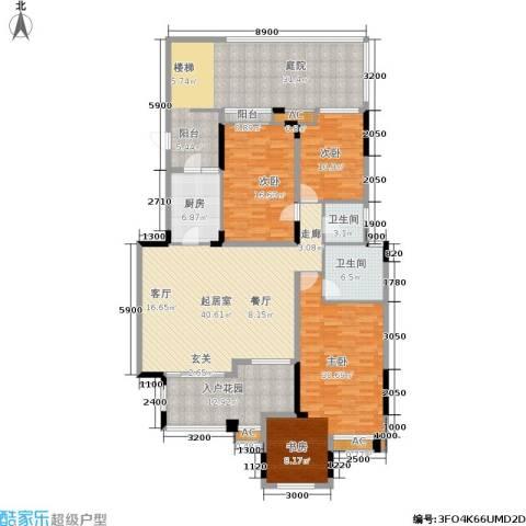 泽科港城国际锦云香缇3室0厅2卫1厨162.54㎡户型图
