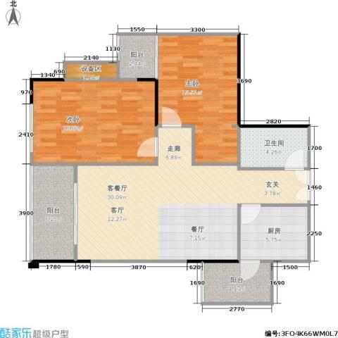 宸琪天和苑2室1厅1卫1厨114.00㎡户型图