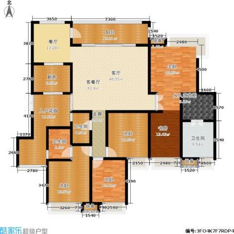 西双十贰城4室1厅3卫1厨295.00㎡户型图