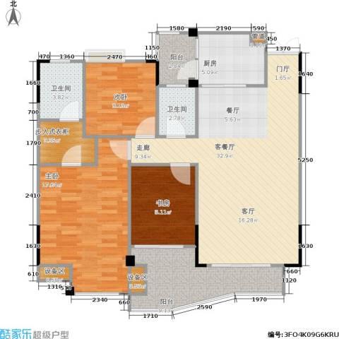 圣豪帝景3室1厅2卫1厨130.00㎡户型图