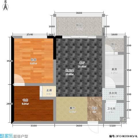 上方新人居1室0厅1卫1厨50.22㎡户型图