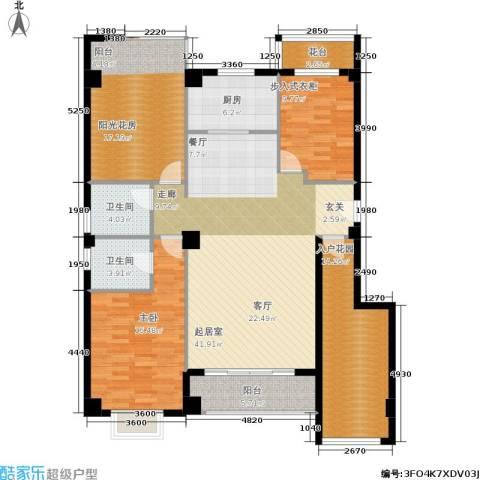 禹洲城上城1室0厅2卫1厨171.00㎡户型图