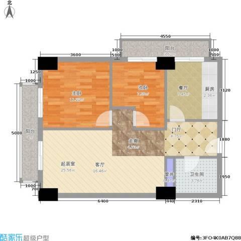 远见名苑2室1厅1卫0厨84.00㎡户型图