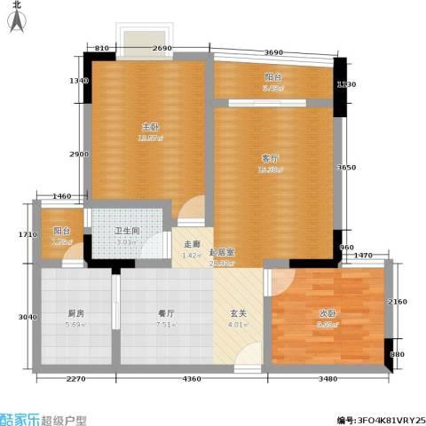 重啤龙泉苑2室0厅1卫1厨70.00㎡户型图