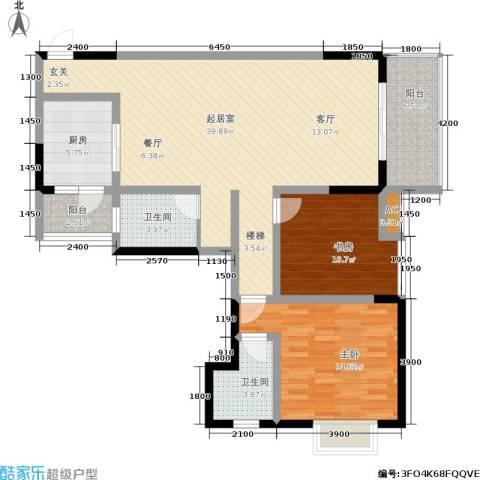 华府枫景2室0厅2卫1厨109.00㎡户型图