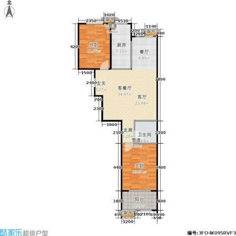 世佳戎居2室1厅1卫1厨99.00㎡户型图